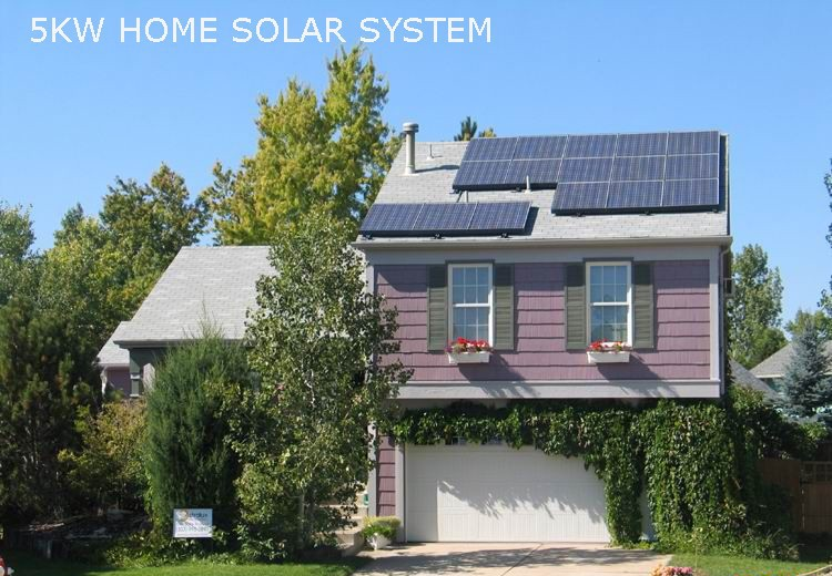 5KW Off Grid Portable and reliable prepaid solar power system