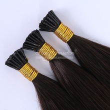 "18"" Ombre Colour #2T6 Italian Keratin Pre bonded I Tip / U Tip Nail Tip European Remy Hair Extensions"
