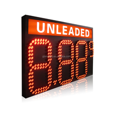 Glare-led large 7 segment electronic billboards led fuel price signs with unleaded light box for gas station