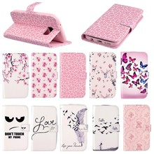 Stent phone case,miltu-color cover cute leather case for Sumsung S7