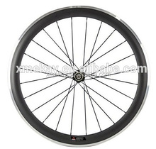 Super Light 700C 50mm Clincher alloy brake Carbon Wheels 23mm width Road Bike Wheels Bicycle Wheelset