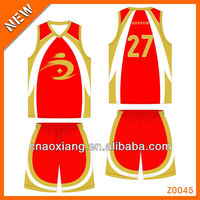 Attractive design basketball team jersey