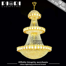 Champaign Gold Crystal Chandelier Lighting Made in China Manufacture