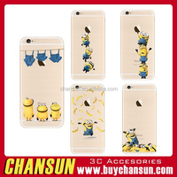 mobile phone despicable me minions printed tpu case for iphone 6s