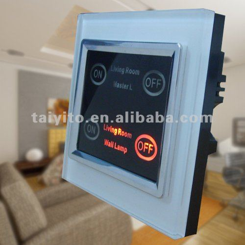 X10 light switch with led backlight touch panel