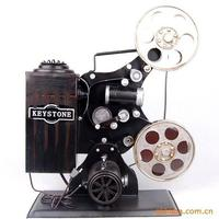 Classic High Quality Old Movie Projector Camera Cinematograph Metal Model For Bar Decoration