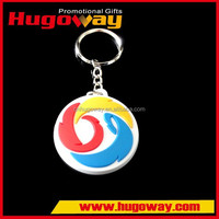 alibaba china wholesale 2d Soft Rubber Key Chain