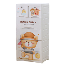 Cartoon bears baby plastic clothes drawer for children clothes