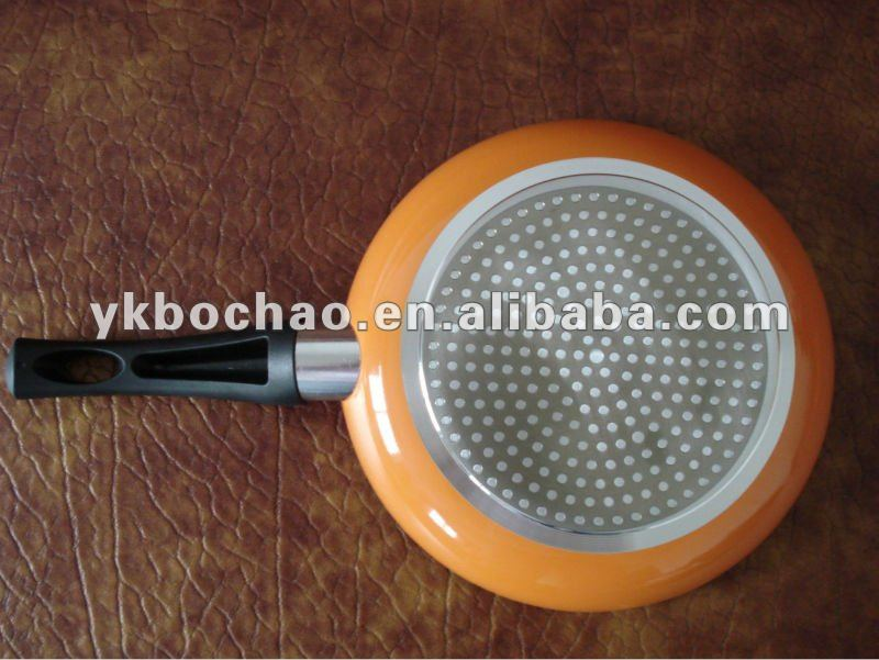 aluminum alloy non stick coating skillets / skillet frying pan with induction bottom