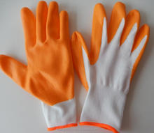 China good quality cheap 13 gauge colored nitrile coating gloves