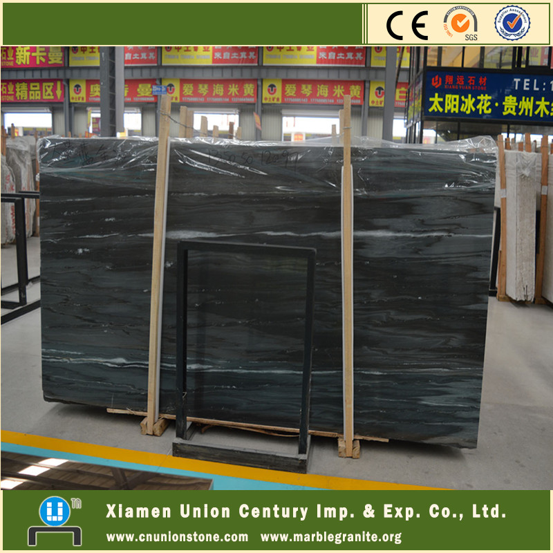 Dark color blue palissandro marble stone