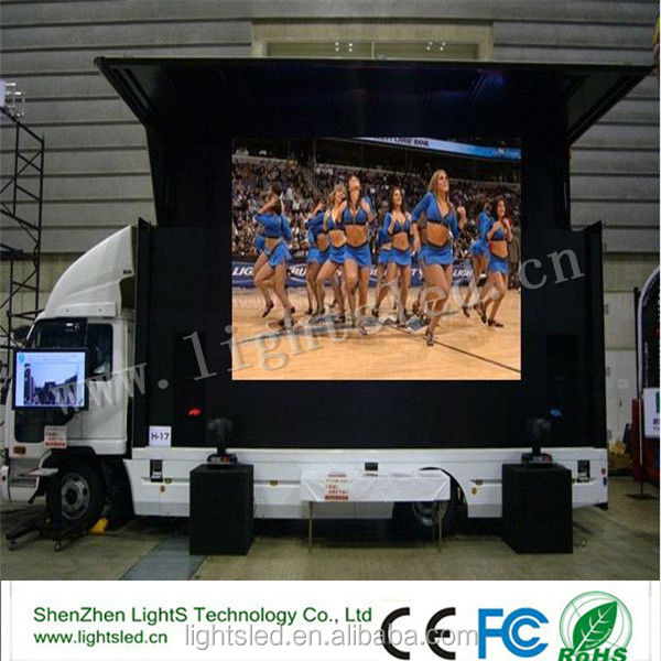 China Supplier Interactive LED Number Truck Display Cabinet for Advertise, IP65 P10 10ft X 12ft LED Video Wall Screen Panel