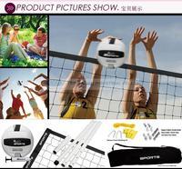 Sports Recreational Volleyball Set Beach Volleyball Set Beach Sport Toy (Adjustbale Pole ,net + w/carrying bag )