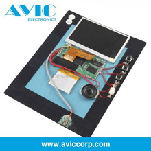 Competitive 512MB 5 inch video brochure module invitational lcd greeting card for advertising