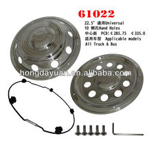 HDY/61022F/R stainless steel wheel cover 22.5
