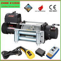 high quality off road electric winch with wireless remote control
