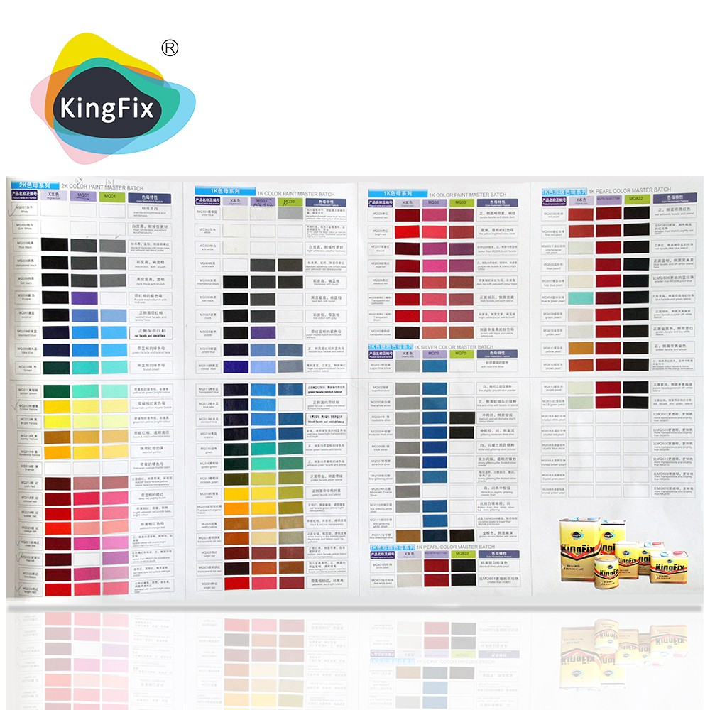 color place paint color chart for car repair