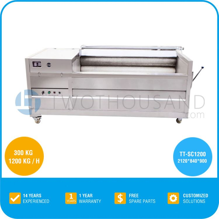 Fish cleaning machine, Fish Scale Removing Machine- 1000 Kg / H, TT-SC1200 for Fish Cleaning Machine
