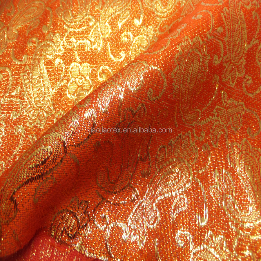 2016 latest LUXURY wholesale shinning Metallic Gold and Sliver lurex jacquard fabric for Dress,pants and shorts garments
