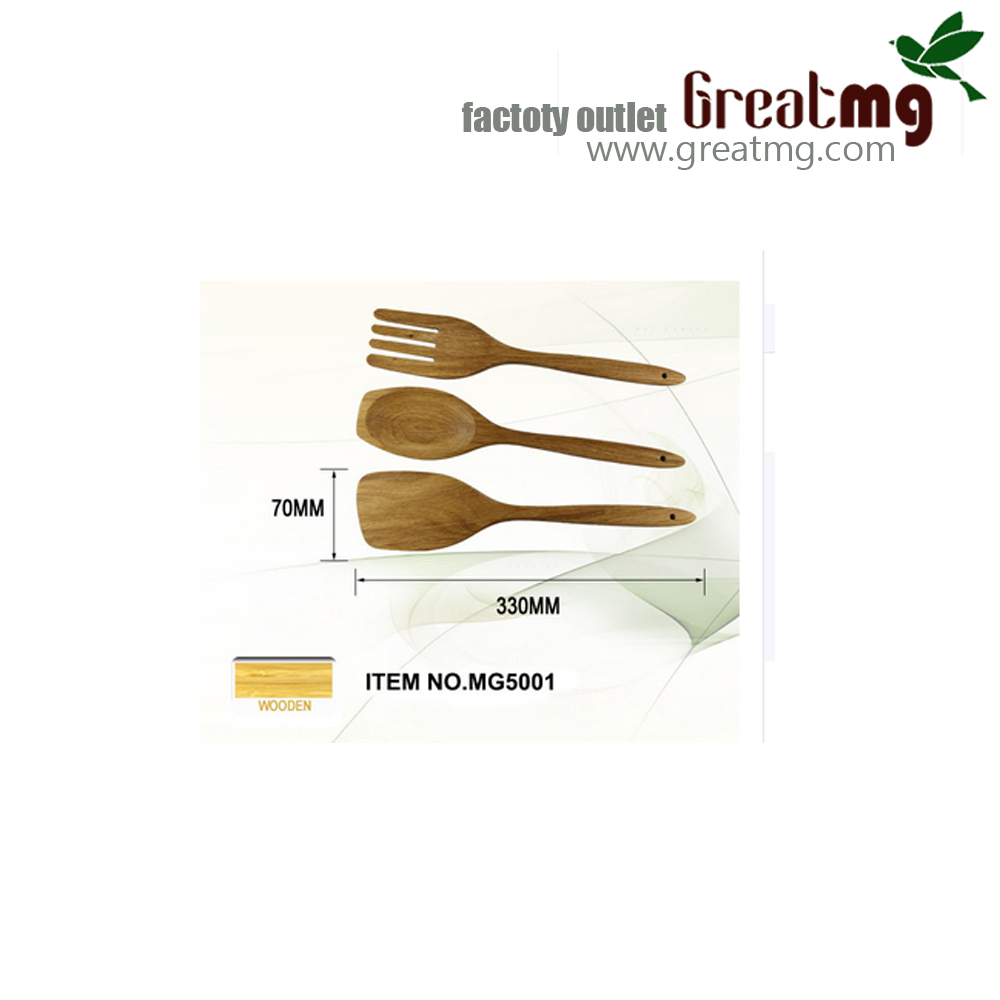 Eco-friendly kitchen mixing tools, a variety of spoons with long handle