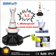X3 50w 6000 lumen led headlight 3000K, 6500K, 8000K fog lamp led headlight H7, H1,H10,H3, H4, 9005, 9006 for auto parts
