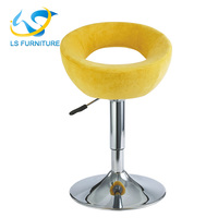 2017 Promotional Fabric Covered Bar Stool with Metal Bar Stool Legs