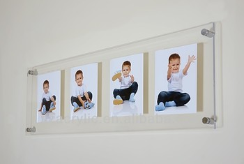 hotel wall mount glass acrylic photo frames