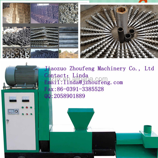 Straw wood coal making machine charcoal rod extrusion forming machine
