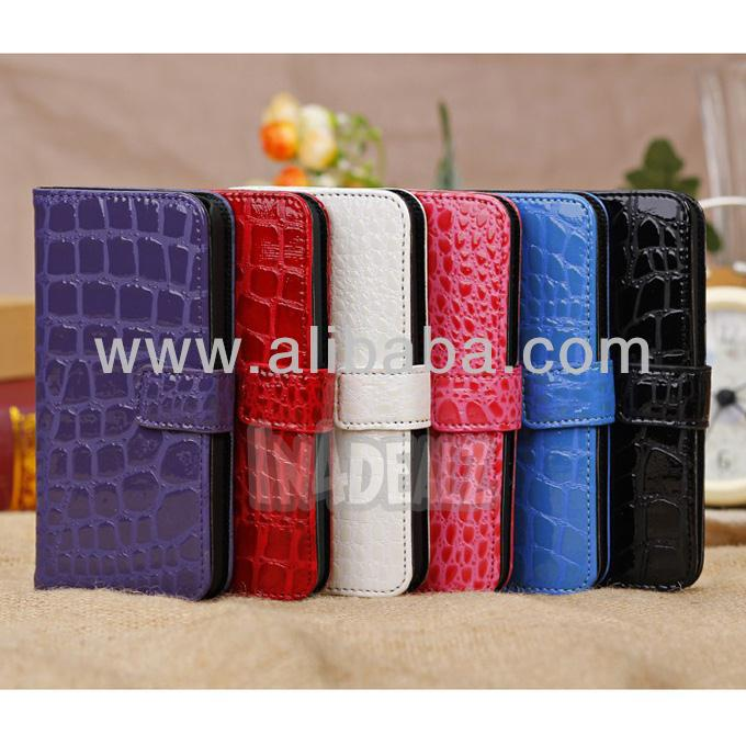 CROC Pattern Design Wallet Case for IPhone 5C New Arrival with 2 card holders
