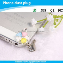 headphone dust plug, luxury crystal dust plug ,cell phone ear cap