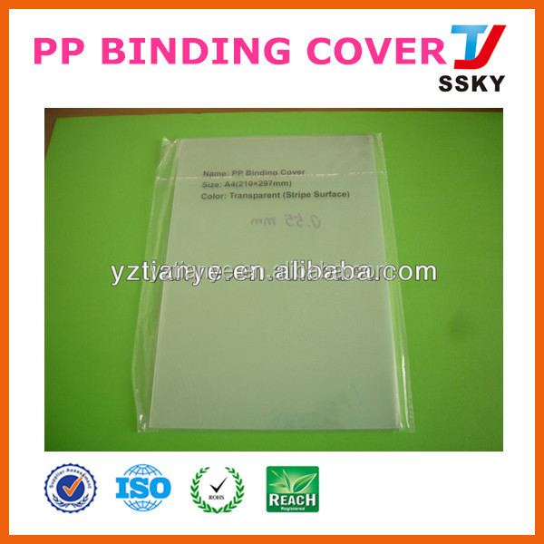 Plastic clear hard plastic book cover