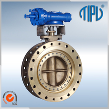 Gear Operated Triple Offset Aluminium Body Butterfly Valve DN250