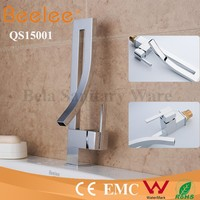 China Modern Kitchen Designs Commercial Brass Single Handle Deck Mounted Chrome Water Tap Kitchen Sink Kitchen Tap
