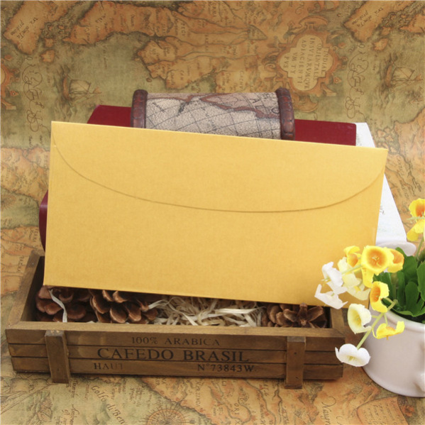 Hot sale and beautiful designed brown kraft paper envelope with string