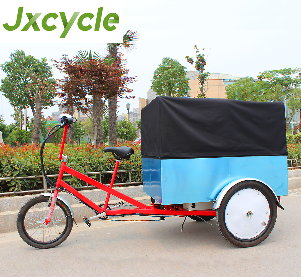 7 speed Aluminium alloy frame 3wheel Powerful electric Cargo Trike with Cabin