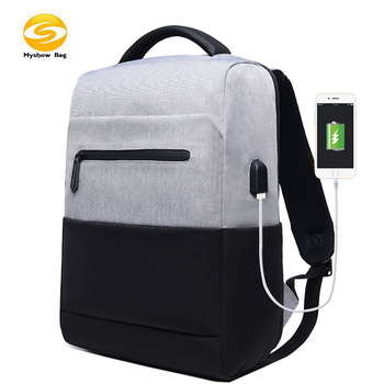 water resistant school bag large laptop compartment, Laptop Backpack with USB Charging Port Fits 15.6 In Laptop