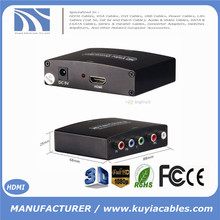 HDMI to Component & Audio Converter 5 RCA/Phono YPbPr RGB TV/DVD Projector 1080P