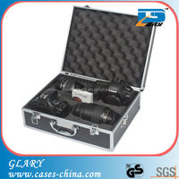 Customized aluminum camera case with foam padding
