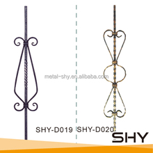 Hand Made Iron Railing Parts, Wrought Iron Railings Parts, Iron Railing Parts for Garden Railings