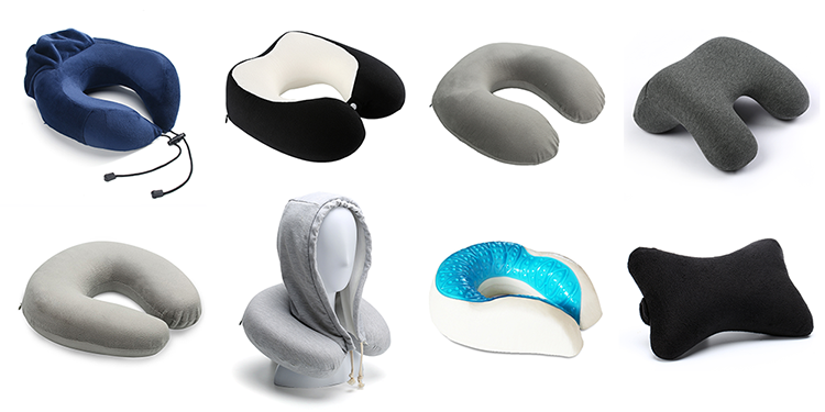 Patented New Design Comfortable Ergonomic Wholesale Car Custom Cervical Headrest U Shape Neck Support Memory Foam Travel Pillow