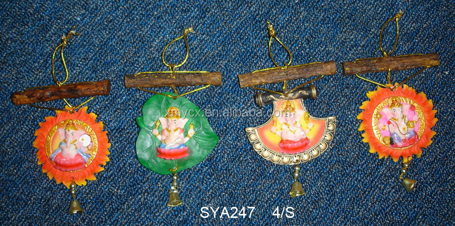 Decorative India god hindu god car hanging car decor Laxmi Ganesh Saraswati