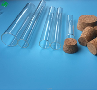 Laboratory round bottom glass test tube with rim or without rim