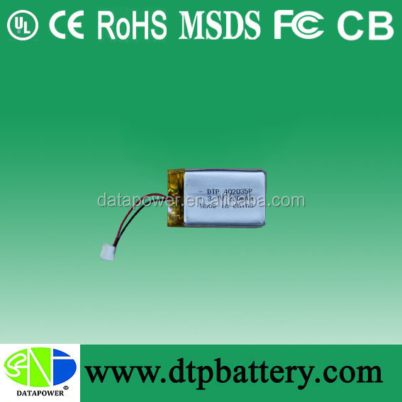 3.7V rechargeable battery for shaver, led light, toys, hair trimmer, portable dvd player