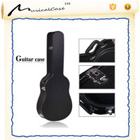 3/4 Size classical electric Acoustic Guitar hard Case-Hard Durable Wood Shell with Carrying Handle and Padded Inside with Plush