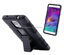 Hybrid Hard Mobile Phone Case For Samsung Galaxy S5 I9600 SV S4 I9500 SIV With Belt Clip & Kickstand Holster