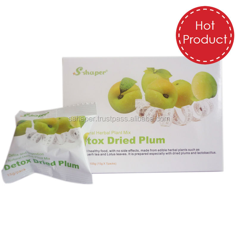 S-SHAPER China Factory Weight loss Plum Easy To Slim Herbs Slimming Delite Green Plum OEM Optrimax Plum