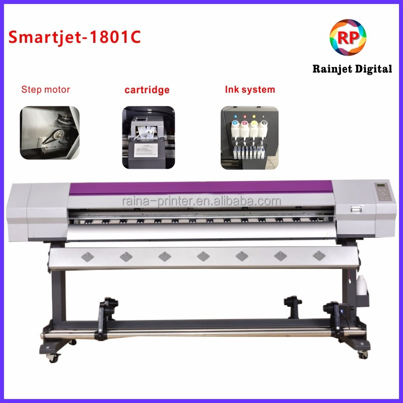 Smartjet new design 1.6m dx7 head inkjet canvas pana flex printing machine