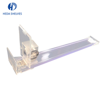 Clear plastic acrylic shelf divider for pusher supermarket