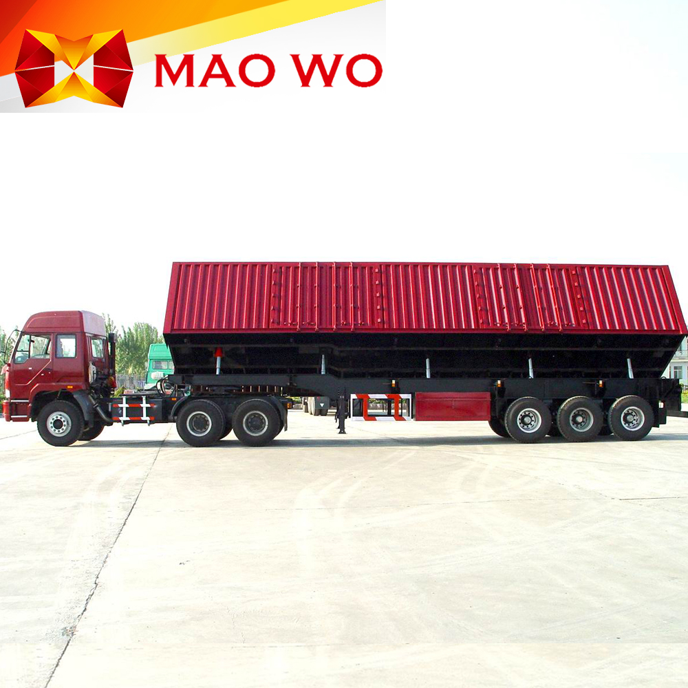 China export 3 axles 40ft tipping container tipper trailer for sale