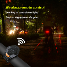Newest generation bicycle rear light intelligent led bicycle light with wireless remote
